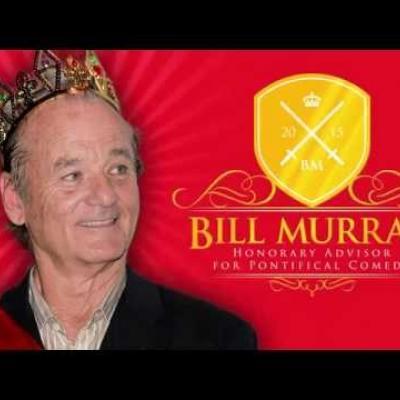 Ο Bill Murray λέει ένα αστείο για τον πάπα για φιλανθρωπικό σκοπό