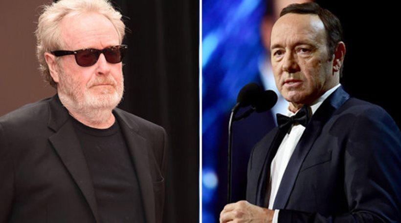«Δεν μετανιώνω» δηλώνει ο σκηνοθέτης Ρίντλεϊ Σκοτ για την αντικατάσταση του Κέβιν Σπέισι