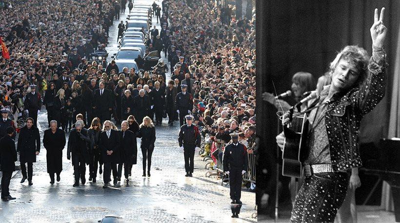 Σε λαϊκό προσκύνημα και ροκ «πάρτι» μετατράπηκε η κηδεία του Τζόνι Χαλιντέι