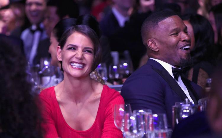 H Katie Holmes και ο Jamie Foxx εμφανίστηκαν σε πάρτι των Grammy μαζί