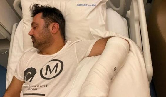 Γιώργος Θεοφάνους: Επέστρεψε στο σπίτι μετά την επέμβαση στο χέρι του