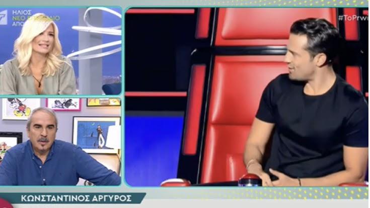 Γιώργος Λιάγκας για The Voice: «Θα αισθανόμουν πολύ άβολα αν ήμουν ο Ρουβάς»
